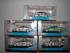 Minichamps - Scale 1/43 - Lot with 5 BMW 3 series Touring cars 90s