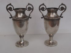 A set of rare silver vases with floral designs, Paris, France, ca. 1790
