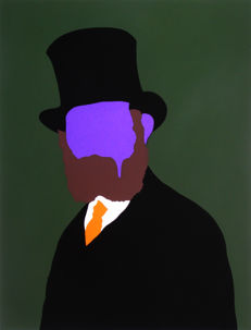 Alex Zanda - Portrait of Manet (purple)