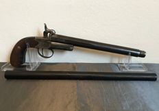 Beautiful engraved 2 piece Pinfire Poaching pistol / rifle St-Etienne - ca. 1870
