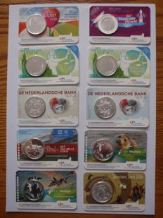 The Netherlands - 5 Euro 2012/2016 (10 different coins) in Coin cards