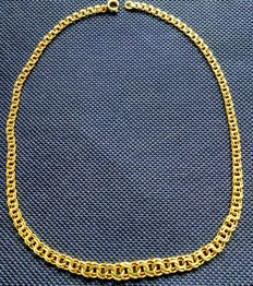 Enchanting necklace 14 kt, 585/1000 approx. 42 cm, links entwined in each other, approx. 20.8 g