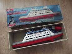 "Schuco, Western Germany - Length 55 cm - Plastic battery-operated remote control ""Fontainebleau"" Lake Constance Ferry, 1970s"