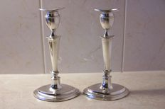 Set silver candle stands, Thomas A. Scott, Sheffield, 1910