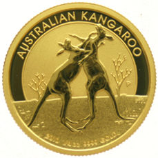 Australia - 25 Dollars 2010 '2 Kangaroos Playing' - gold