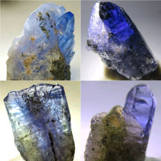 High Grade Terminated Tanzanite Crystals - approx. 18.5x12x9 mm each -  57.10 ct (4)