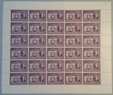Belgium - 200th anniversary of the birth of Mozart in complete sheets with plate number 1 - 30 x OBP numbers 987 to 989