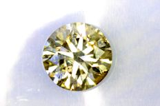 Fancy Light Yellowish GREEN –  1.01 ct –  Excellent Cut –  * NO RESERVE PRICE *