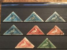 Cape of Good Hope - collection of 8 different triangles