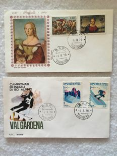Italy, Republic, 1970s – Collection of 188 FDC and philatelic bulletins