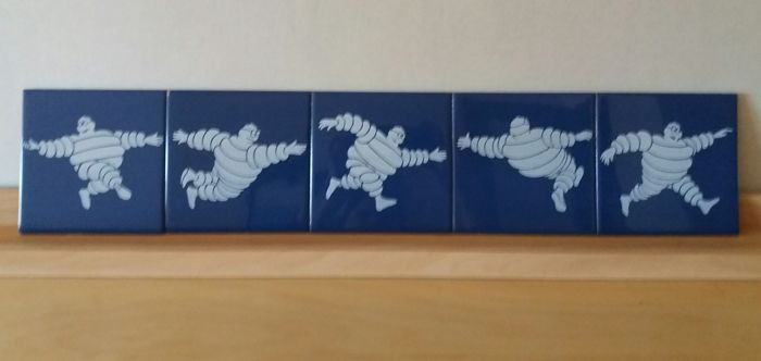 Michelin-Bibendum tiles. Complete set. Original.