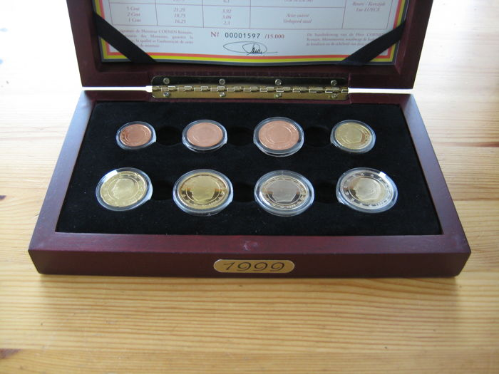 Belgium - Year pack Euro coins 1999