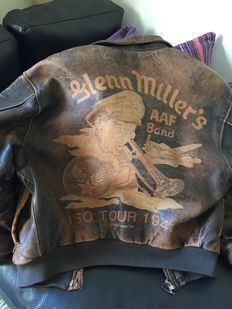 "US Air Force leather jacket ""Glenn Miller's Band"" tour 1943"