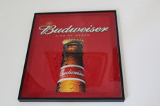 Lighted panel Budweiser.