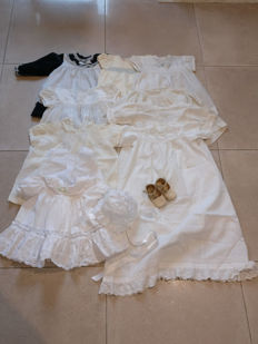Beautiful collection of doll clothing - various origin