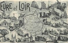France - Département de l'Eurre et Loir 28 - Lot with 60 old postcards