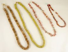 4 strings of different collectable beads
