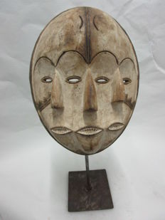 Mask with 3 faces - KWELE - Gabon