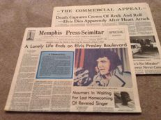 Elvis Original News Paper