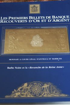 Antigua and Barbuda - Complete series of 30 x 100 Dollars covered with gold and silver - Pick CS5