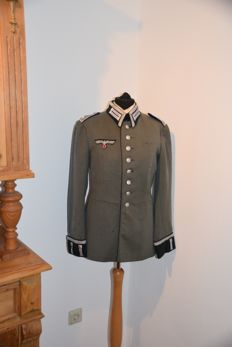 The uniform of an ex-sergeant major in the medical service of the Wehrmacht