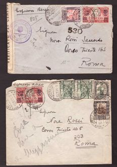Italian colonies - lot of postal history