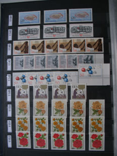 Federal Republic of Germany 1982/91, large lot of duplicates, among others, stamp rolls with number