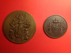 TWO Commemorative Medallions of the Joint General Staffs of Portugal and Spain
