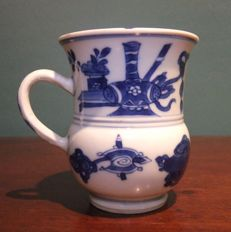 Blue and White Porcelain Chocolate Cup - China - Kang-Xi Period c.1700