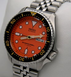 Seiko Scuba Orange - Automatic Diver's 200 m Jubilee, Made in Japan - New - Men's wristwatch - New Automatic Scuba watch