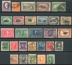 USA 1887/1909 - Selection classics - Yvert  69, 80, 88, 87, 135, 138/43, 159/63, 167/78
