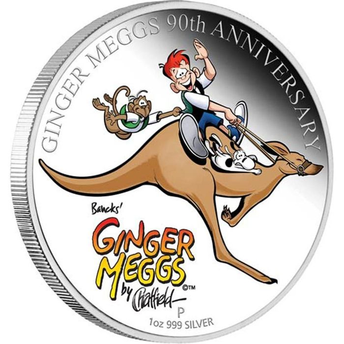 Australië - 1 Dollar 2011 - Ginger Meggs 90th Anniversary - with BOX and COA - 1 Oz  - Zilver