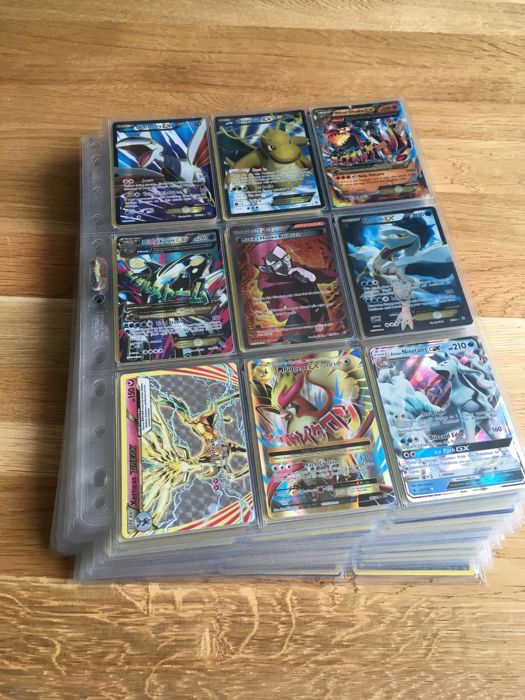 Pokémon - XY and Sun and Moon series - 375+ holo foil cards (incl. EX / full art / ultra rare) - English (2014-2017)
