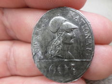 """France - token from the Revolution """"Loterie Nationale  n° 603 - Tin"""