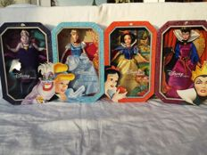 Disney, Walt - 4 Dolls Mattel - Disney Classic Collection - Snow White + Evil Queen + Cinderella + Ursula (2014)