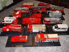 Del Prado - Scale circa 1/43-176 - Lot with 16 Fire Department trucks from various Countries