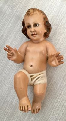 Child Jesus - Olot - mid 20th century. Registered brand