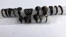 Lot of Ancient and Medieval Rings, 1,5  x 2,6 cm (17 pcs.)