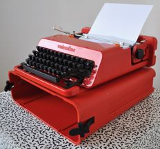 "Ettore Sottsass and Perry King for Olivetti ""Valentine S"" typewriter"