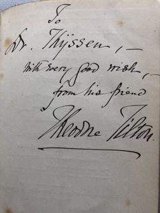 Signed; Theodore Tilton - Heart's Ease or Poems of Rest and Unrest - 1894