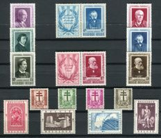 Belgium 1952 - selection of 3 series - OBP 892/907