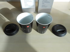 Two Leica mugs