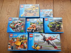 7x City - 4200 + 60011 + 60019 + 60053 + 60054 + 60055 + 60072 - airplane, cars and more