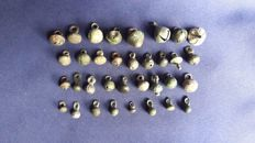 Collection of Ancient buttons (from Roman Period to Late Medieval), 35 pcs