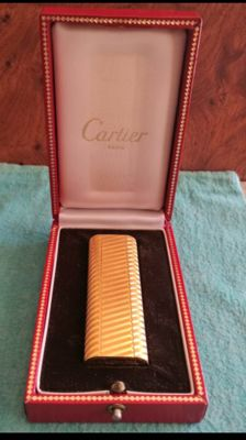 18ct laminated gold Cartier lighter  S/N 26846 G