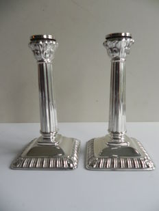 Set of silver candle stands, Germany, 20th century