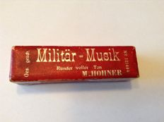 Rare Hohner mouth harmonica in original box with 3 song books for soldiers