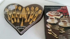 Two cutlery sets for cakes - 23/24 k gold plated Esmeyer