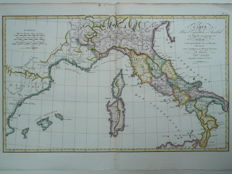 Italy; Rollin / D'Anville - Carte pour 'Expedition d'Annibal (...) - ca. 1800