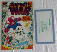 Infinity War Ron Lim Signed Issue # 3 Comic with COA 1992 NM/M Marvel Comics